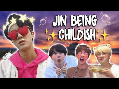 jin literally just acting like a child for 10 minutes straight