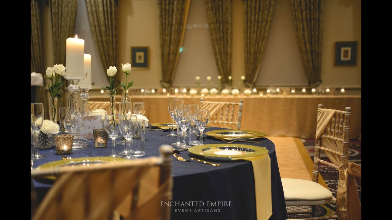 Navy and gold wedding theme styled by enchanted empire event navy and gold wedding theme styled by enchanted empire event artisans youtube junglespirit Image collections
