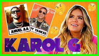 Karol G juega memoria mientras contesta preguntas de su vida, Anuel Aa, Bad Bunny y más