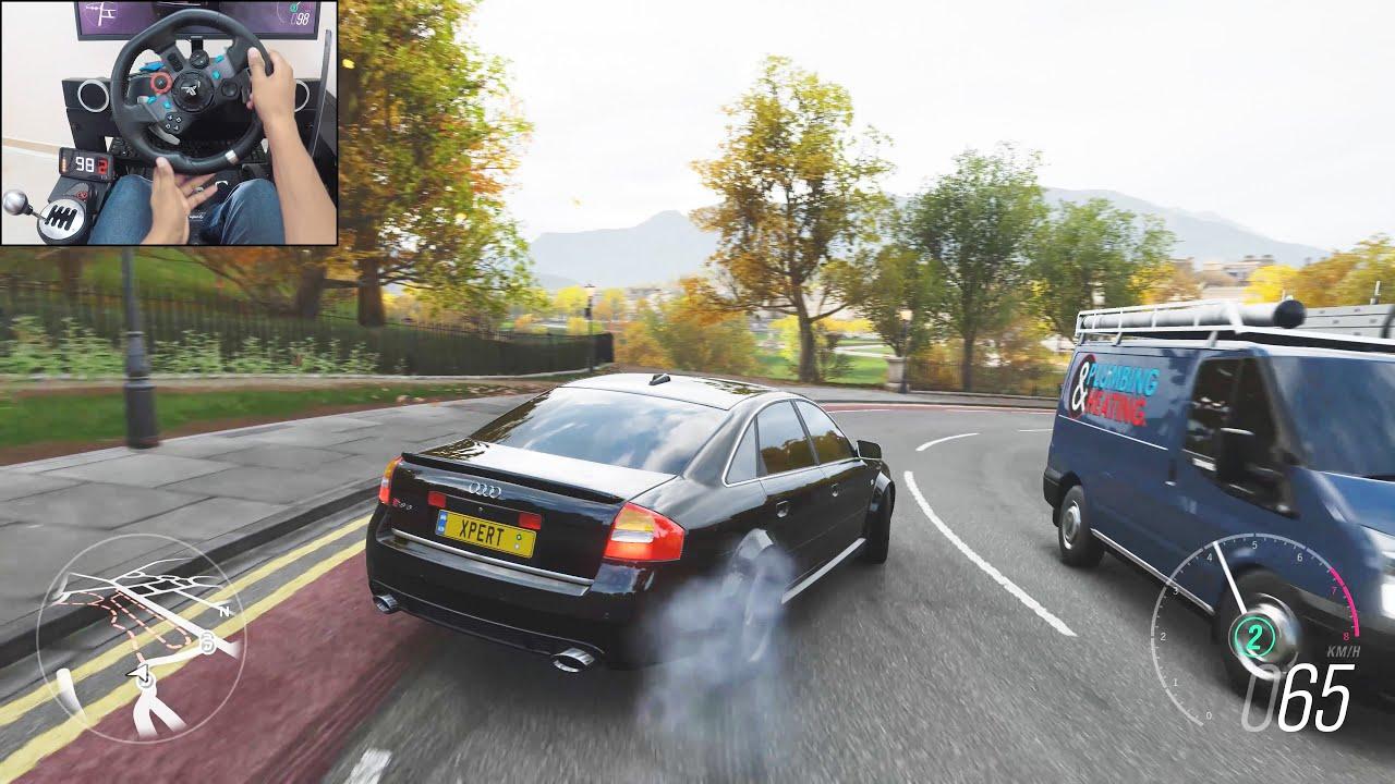 800BHP Twin-turbo Audi RS 6 - Forza Horizon 4 | Logitech g29 gameplay thumbnail