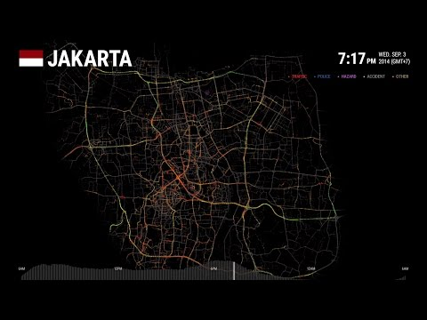 Data Visualization - Jakarta: One Day on Waze | Waze