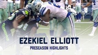 Ezekiel Elliott highlights vs Seahawks | Every Run from 2016 Preseason Week 3