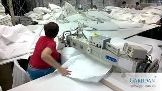 Našívání zipů na potahy matrací
