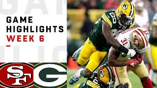 49ers Vs. Packers Week 6 Highlights | Nfl 2018