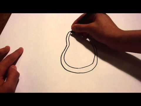 Apprendre à dessiner un pingouin - Tutoriel dessiner des cartoons: Dessin de pingouin
