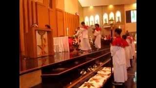 Lagu Pembuka Misa Hari Raya Pentakosta 24 Mei 2015 di grj Santo Yoseph Palembang.