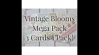Love From Lizi - Vintage Blooms Mega Pack - 3 Cards 1 Pack
