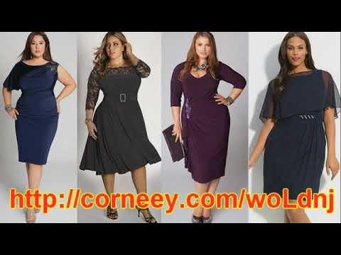 Платья для полных. Одежда для женщин после 40. - YouTube