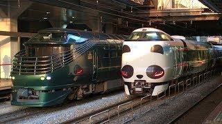【JR西日本】トワイライトエクスプレス瑞風 京都駅でパンダくろしおと共演