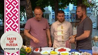 Making Greek Salad à la Russe & Stolen Lamb for a 'small' Greek dinner party - Taste of Russia Ep.12