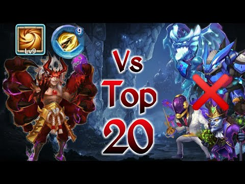 Phobos Vs Top-20 | 9/9 Sacred Light | 9 Zealous Drive | No Pet/Warden | Castle Clash