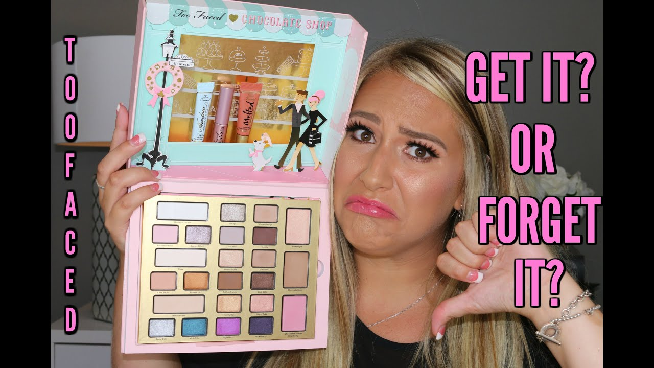 Too Faced Christmas In New York The Chocolate Shop Palette Get It