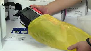 How to install toner cartridge…