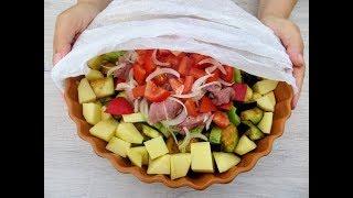 Вкуснятина на ужин или обед - из простых продуктов / Vegetables with meat in the oven