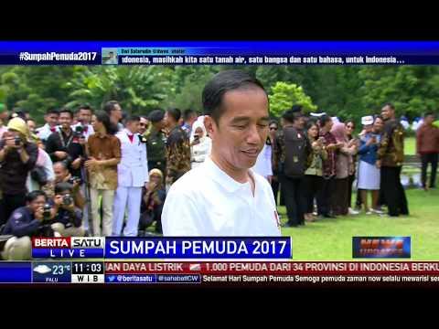 Begini Aksi Jokowi Memanah Bersama Pemuda Bangsa