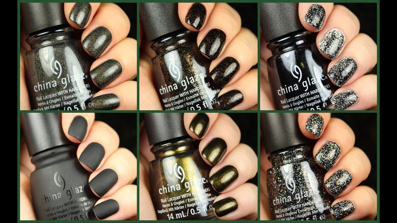 china glaze paint it black halloween 2018