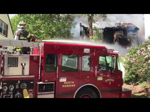 5/20/2017 2nd alarm of fire North Reading Ma with radio traffic