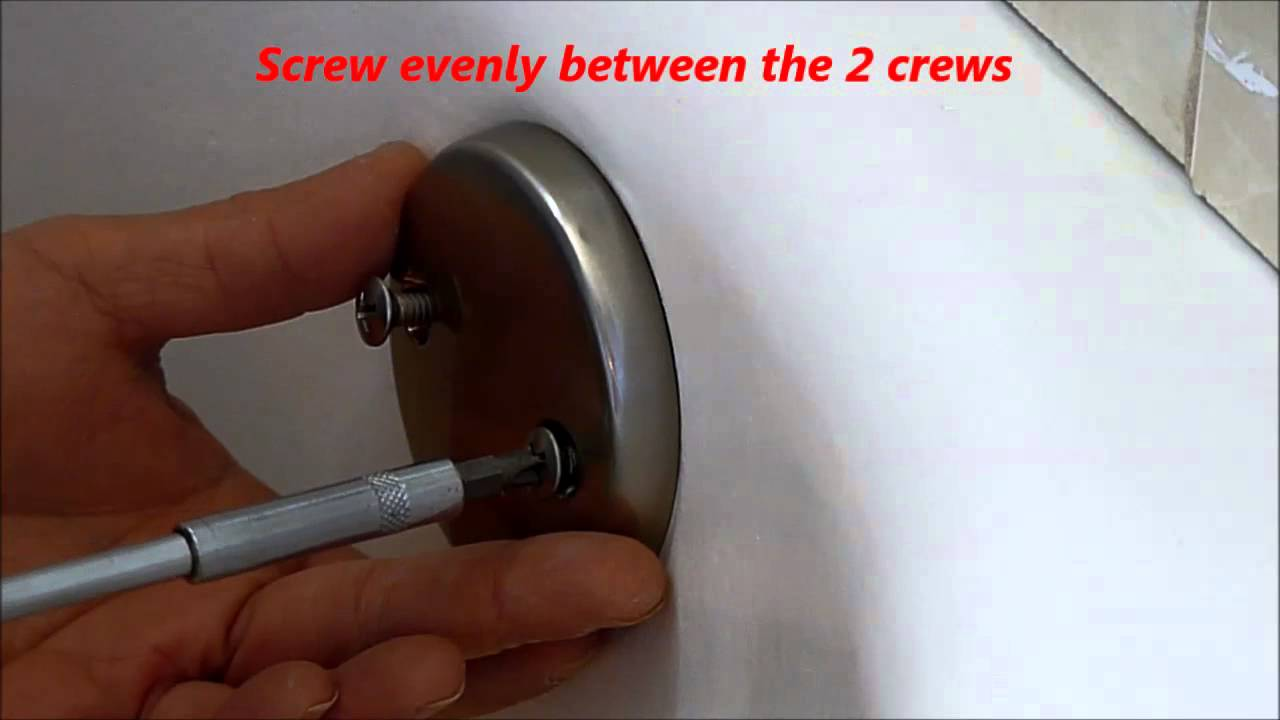Replace Tub Overflow Drain Cap - YouTube
