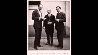 Haydn Piano Trio No 39, op 73 no 2 (Cortot, Thibaud, Casals) (HD)