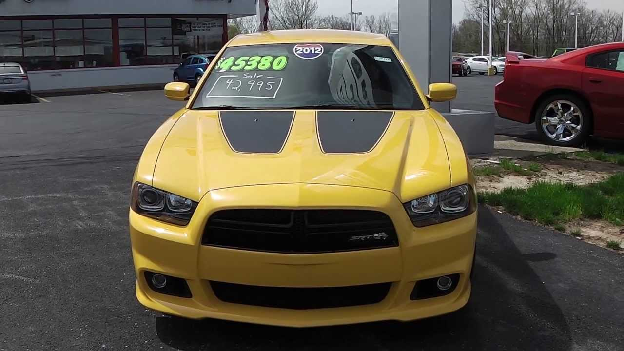 2012 Dodge Charger For Sale >> 2012 Dodge Charger Srt8 Superbee Sedan Yellow For Sale Dayton