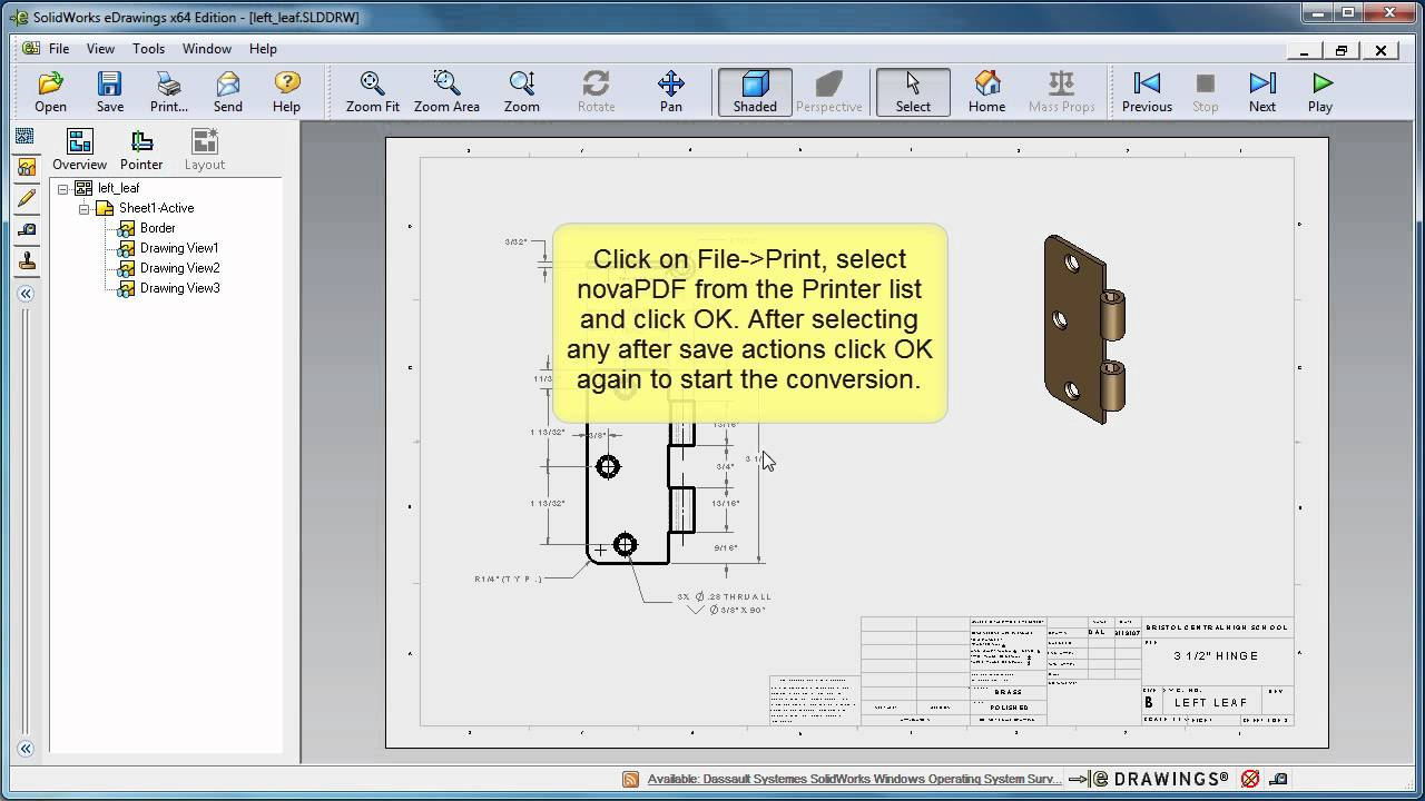 Convert SolidWorks to PDF