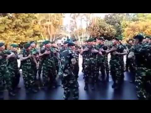 Aksi TNI  Yel Yel TNI paling keren dan semangat!!!