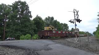 Norfolk Southern Work Train Shoving Past Linton Hill Road 7/8/19