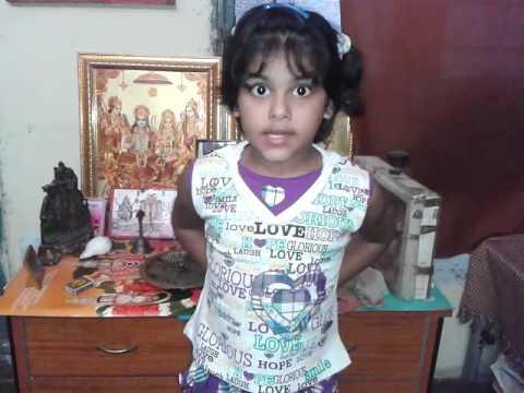My daughter Sakshi Tripathi recited a Hindi Poem on Beti and won first prize