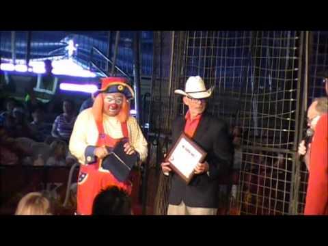 Herky gets award at Kelly Miller Circus