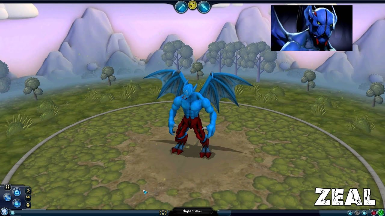 Spore Creation (Hero dota 2 Night Stalker) - YouTube