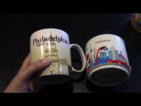 You Are Where?  Starbucks Mugs #1  Philadelphia & Toronto