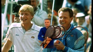 Puma G Vilas with Boris Becker Coach G Bosch - Tennis History Part 5 | The Berlin Tennis Gallery