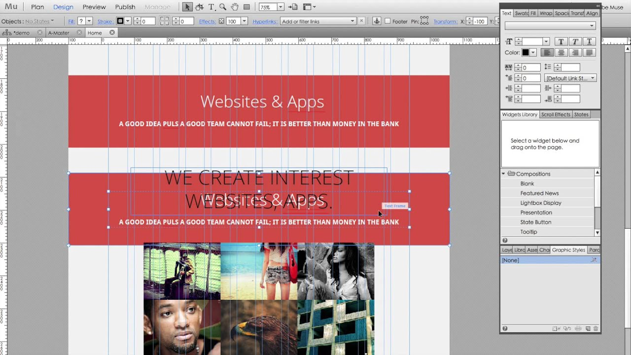Create a landing page in 25min with Adobe Muse - YouTube