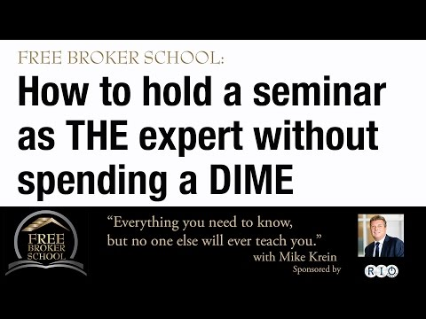 Brokers: How to Hold an Event or Seminar without spending a dime