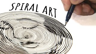The ONE-LINE SPIRAL Art Challenge - I figured it out!