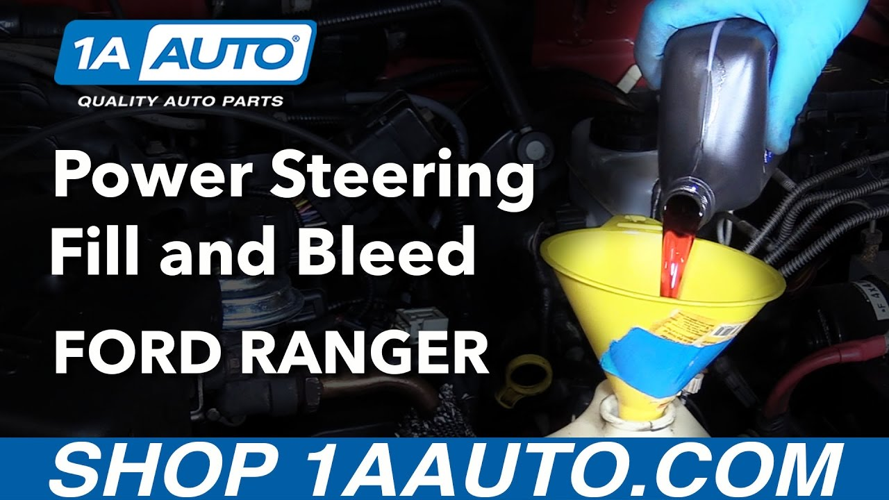 How To Fill And Bleed Power Steering Fluid System 98 12 Ford Ranger 2003 Mustang Gt Fuse Box