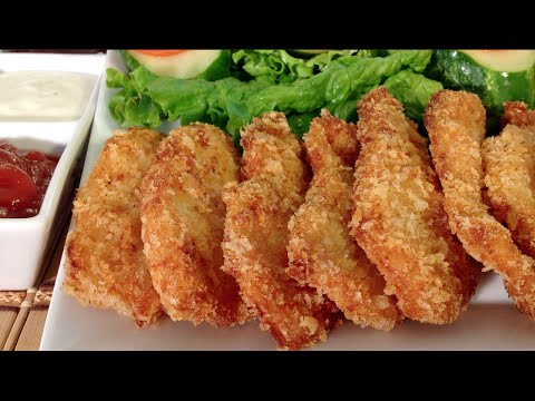 How To Make Easy Chicken Nuggets Quick Finger Food Recipes Party Appetizers Panko Chicken Tenders