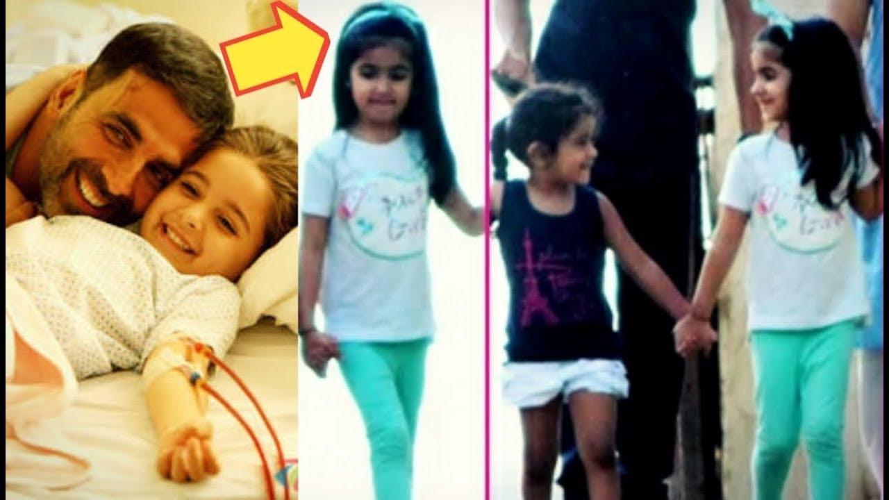 Aww !! Akshay Kumar's Daughter Nitara Taking A Walk With ...
