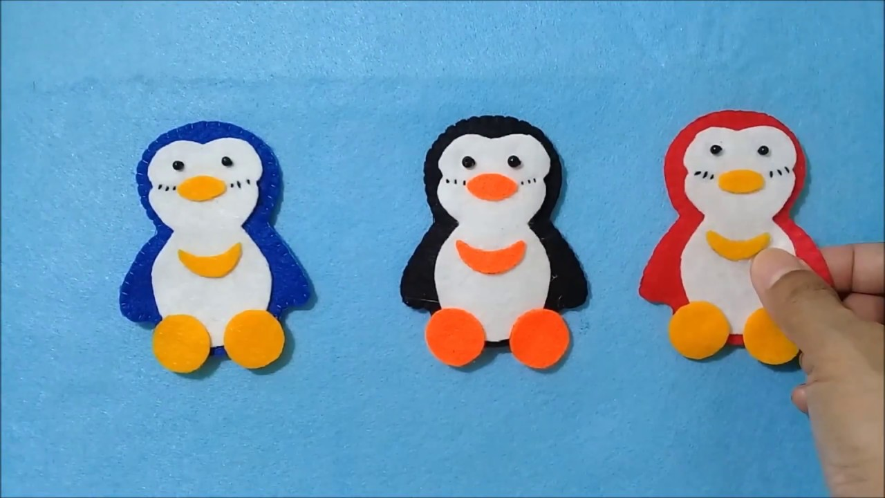 Amplop Lebaran Pinguin Dari Kain Flanel Felt Envelope Widths Penguin Amplop Lebaran