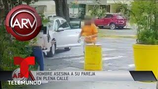 Hombre asesina a su pareja a puñaladas en plena vía de Guadalajara | Al Rojo Vivo | Telemundo