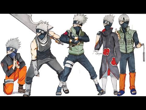 Drawing KAKASHI In Different Styles (Naruto,Akatsuki,Zabuza,Gai)