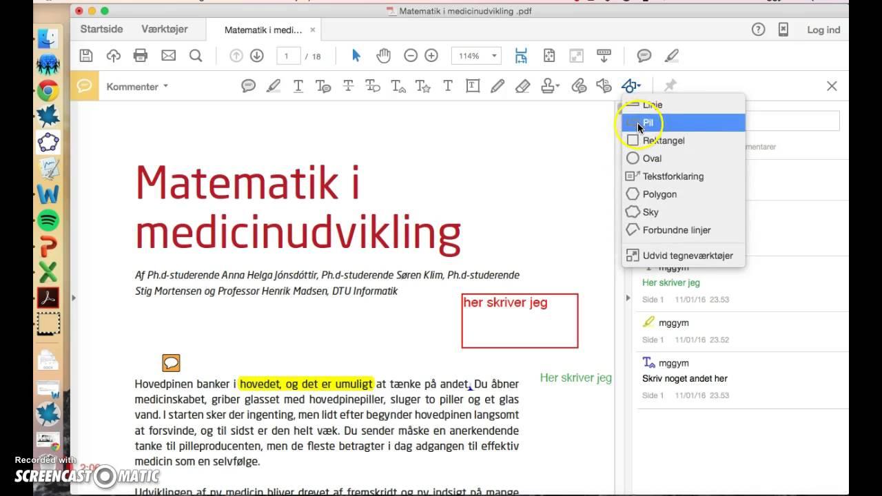 Noter i Adobe Acrobat Reader DC (elev)