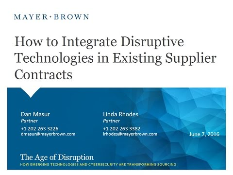 How to Integrate Disruptive Technologies in Existing Supplier Contracts