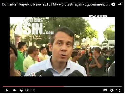 Dominican Republic News 2015   More protests against government corruption in Santo Domingo