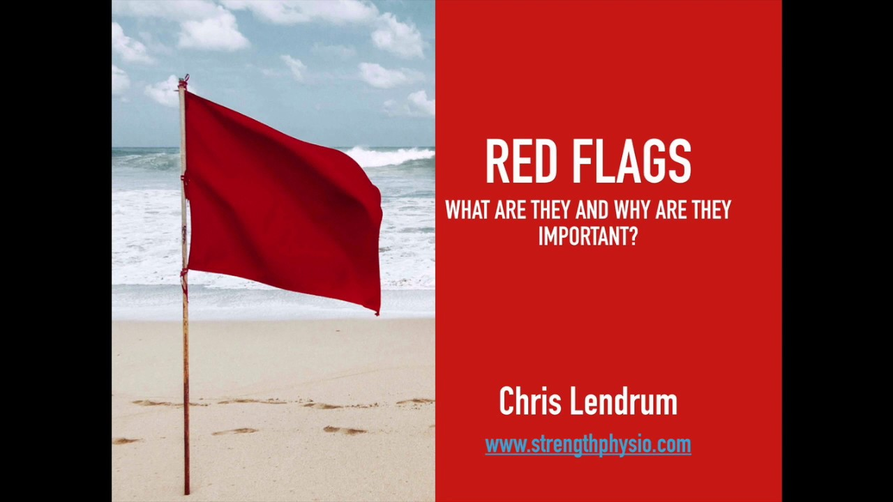 Red Flags In physical therapy