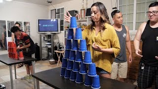 Stack Attack   Epic Team Cup Stacking! (Minute to Win It)