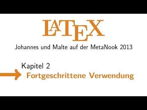 LaTeX: Fortgeschrittene Verwendung