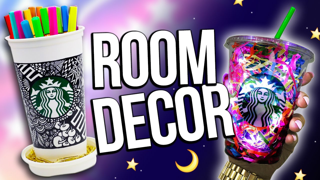 Diy Starbucks Room Decorations Recycling Edition Youtube