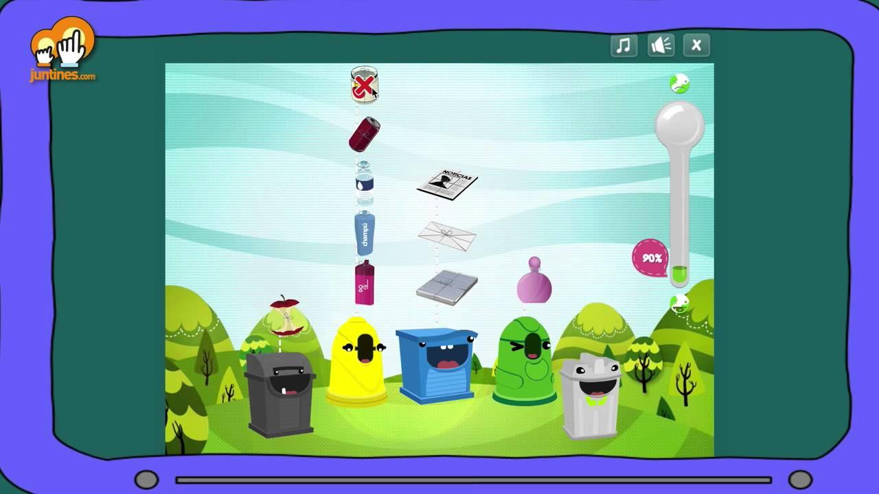 Resultado de imagen de juego de reciclaje para niños online