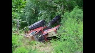 Accident   tracteur MF 592